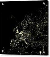 Europe At Night Acrylic Print