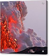 Explosion Of Lava, Ash, And Steam Acrylic Print