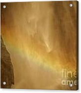 Face In The Rainbow Acrylic Print