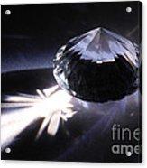 Faceted Quartz Gem Acrylic Print