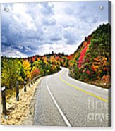 Fall Highway Acrylic Print