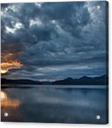 Fall Sunset Over Lake Pend Oreille Acrylic Print