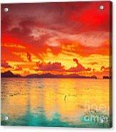 Fantasy Sunset Acrylic Print by MotHaiBaPhoto Prints