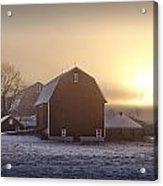 Farm Winter Sunrise Acrylic Print