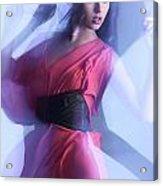 Fashion Photo Of A Woman In Shining Blue Settings Acrylic Print