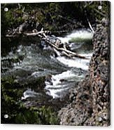 Fast Moving Firehole River Acrylic Print