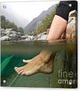 Feet Under The Water Acrylic Print
