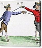 Fencing, 18th Century Acrylic Print