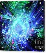 Fiber Optic Swirl Acrylic Print