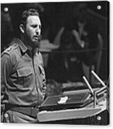 Fidel Castro (1926-) Acrylic Print