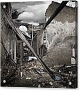 Fire Destruction, Artwork Acrylic Print by Victor Habbick Visions