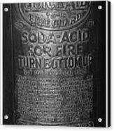 Fire Extinguisher Acrylic Print