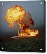 Fireball From Liquid Petroleum Gas Explosion Acrylic Print by Crown Copyrighthealth & Safety Laboratory