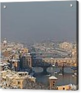 Firenze Under The Snow Acrylic Print