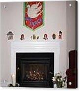 Fireplace At Christmas Acrylic Print