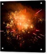 Firework Display At New Year's Eve Acrylic Print