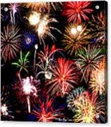 Fireworks Medley Acrylic Print