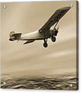 First Solo Transatlantic Flight, 1927 Acrylic Print