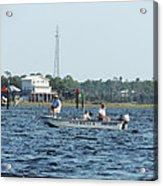 Fishing The Flats Acrylic Print