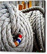 Fleet Week - Ship's Ropes Acrylic Print by Maria Scarfone