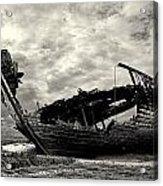Fleetwood Marsh Wrecks Acrylic Print