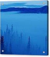 Fog At Dawn, Stewart Crossing, Yukon Acrylic Print