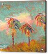 Folly Beach Wind Blown Acrylic Print