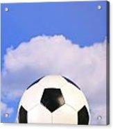 Football On Grass Acrylic Print by Richard Thomas