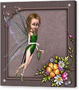 Forest Fairy In The Garden Acrylic Print