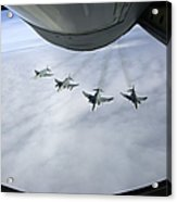 Formation Of Luftwaffe F-4f Phantom IIs Acrylic Print