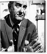Former President Lyndon Johnson Acrylic Print by Everett