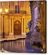 Fountain Aix-en-provence Acrylic Print