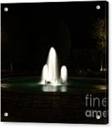 Fountain At Night Acrylic Print