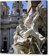 Fountain. Piazza Navona. Rome Acrylic Print