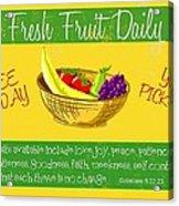 Free Fruit Acrylic Print by Greg Long