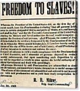 Freedom To Slaves Acrylic Print