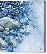 Freezing River Acrylic Print by Jeremy Walker