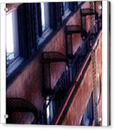 French Quarter Fire Escape Acrylic Print
