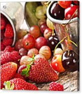 Fruits And Berries Acrylic Print