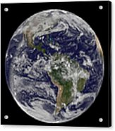 Full Earth Showing North America Acrylic Print