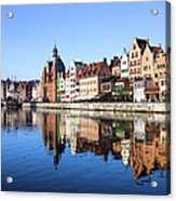 Gdansk Old Town And Motlawa River Acrylic Print