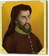 Geoffrey Chaucer, Father Of English Acrylic Print