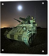 German Army Crew In A Wiesel 1 Atm Tow Acrylic Print