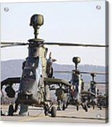 German Tiger Eurocopters At Fritzlar Acrylic Print