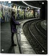 Girl In Station Acrylic Print
