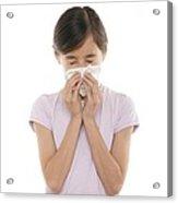Girl Sneezing Acrylic Print