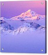 Glacier Peak Alpenglow - Purple Acrylic Print