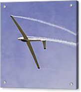 Glider Flying Aerobatics At Airshow Canvas Photo Poster Print Acrylic Print