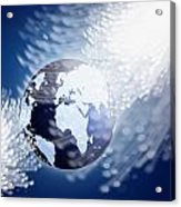 Globe With Fiber Optics Acrylic Print