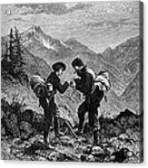 Gold Prospectors, 1876 Acrylic Print